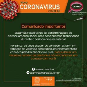 Violência Doméstica - Contato CEAMO Campinas