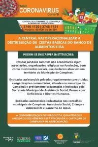 Informações sobre doações de alimentos para Entidades e Serviços