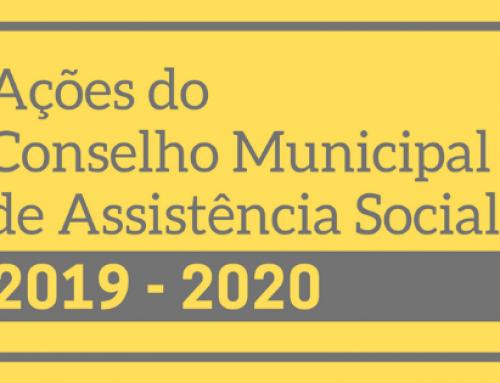 Ações do CMAS em 2019 e 2020