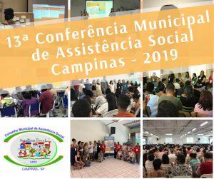 13° Conferência Municipal de Assistência Social - Campinas - 2019